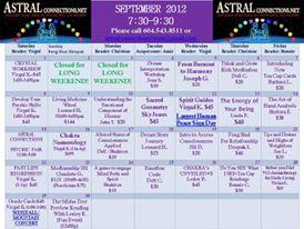 Astral Calendar Sept 2012