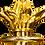 Thumbnail: Level 4 Royal Sceptre - 25mm stone Citrine , Amethyst, Ametrine 18k Gold flower