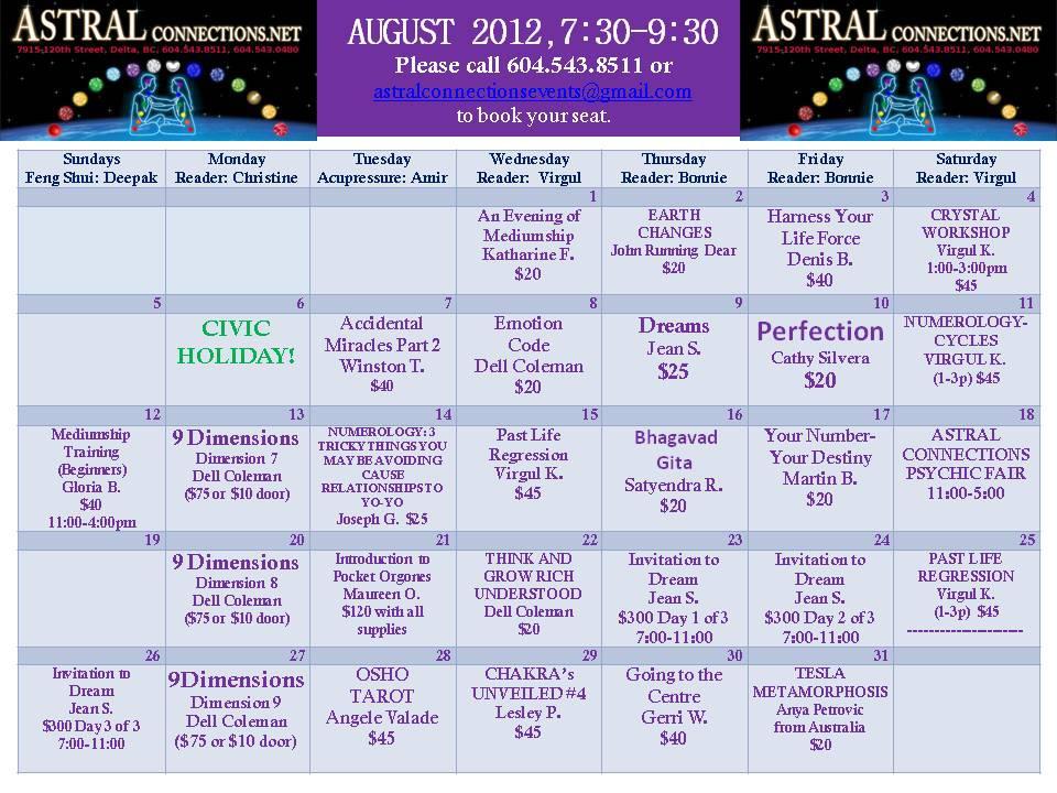 Astral Calendar March 2012