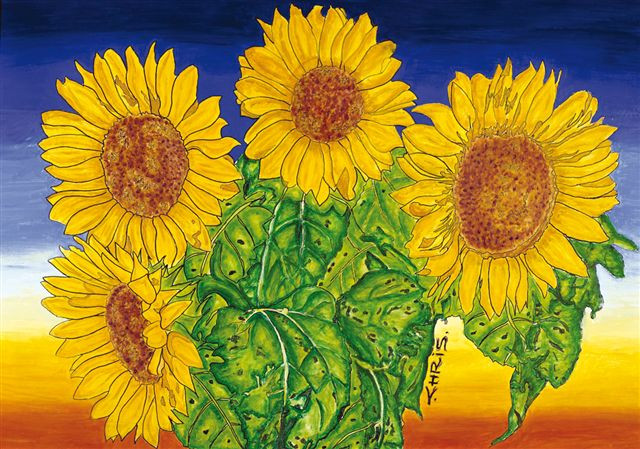 Chris Corlett's 'Sunflowers' Painting