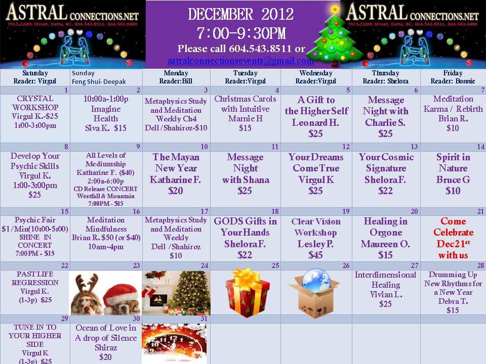 Astral Calendar Dec 2012
