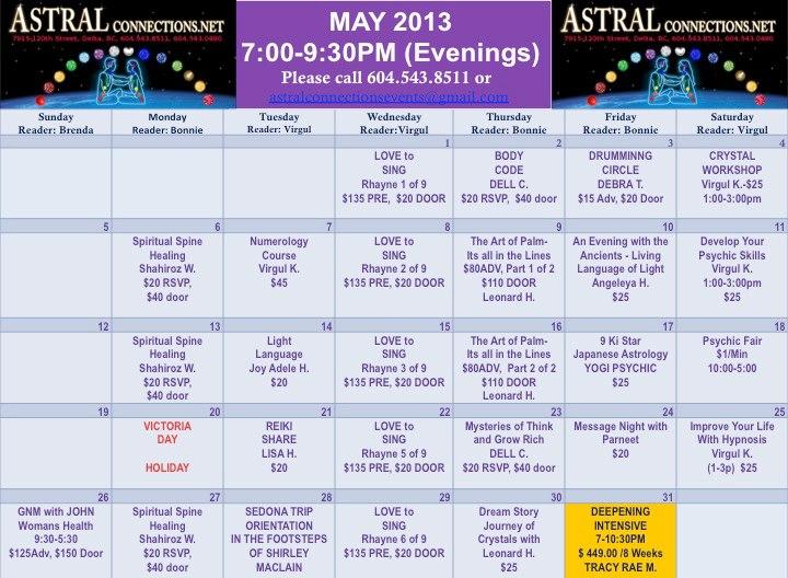 Astral Calendar May 2013