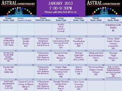 Astral Calendar January 2013