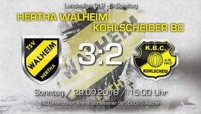Hertha Walheim siegt gegen den KBC