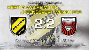 U19 von Hertha Walheim wartet weiterhin auf ersten Heimsieg der Saison