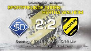 Sportfreunde Düren - TSV Hertha Walheim 2:2