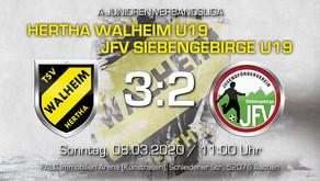 U19 von Hertha Walheim feiert ersten Heimsieg und setzt sich ab von den Abstiegsplätzen