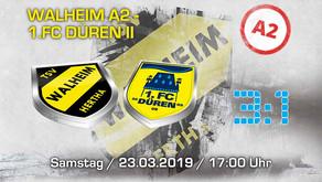 U18 von Hertha Walheim nach Arbeitssieg gegen 1. FC Düren U18 zuhause weiterhin ungeschlagen