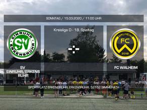 Spitzenreiter FC Walheim zu Gast in der Wildschweinarena
