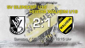 U19 von Hertha Walheim verliert Derby beim SV Eilendorf