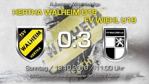 U19 von Hertha Walheim kassiert derbe Heimschlappe