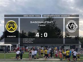FC Walheim siegreich im ersten Meisterschaftsheimspiel