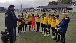 Die U11 kickt gegen Westwacht Aachen...