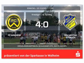 FC Walheim mit verdientem Sieg gegen Hertha Strauch