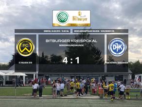 FC Walheim zieht in die erste Runde des Bitburger Kreispokals ein