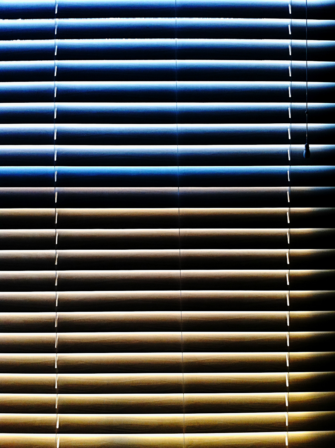 blinds at sunset