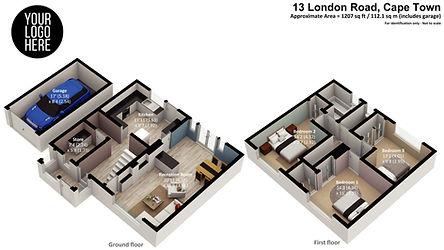 3d floorplan render example