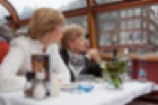 Ужин на кораблике в Амстердаме