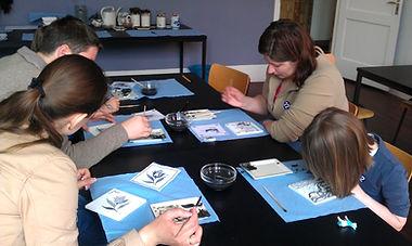 Мастер-класс по росписи делфтской плитки