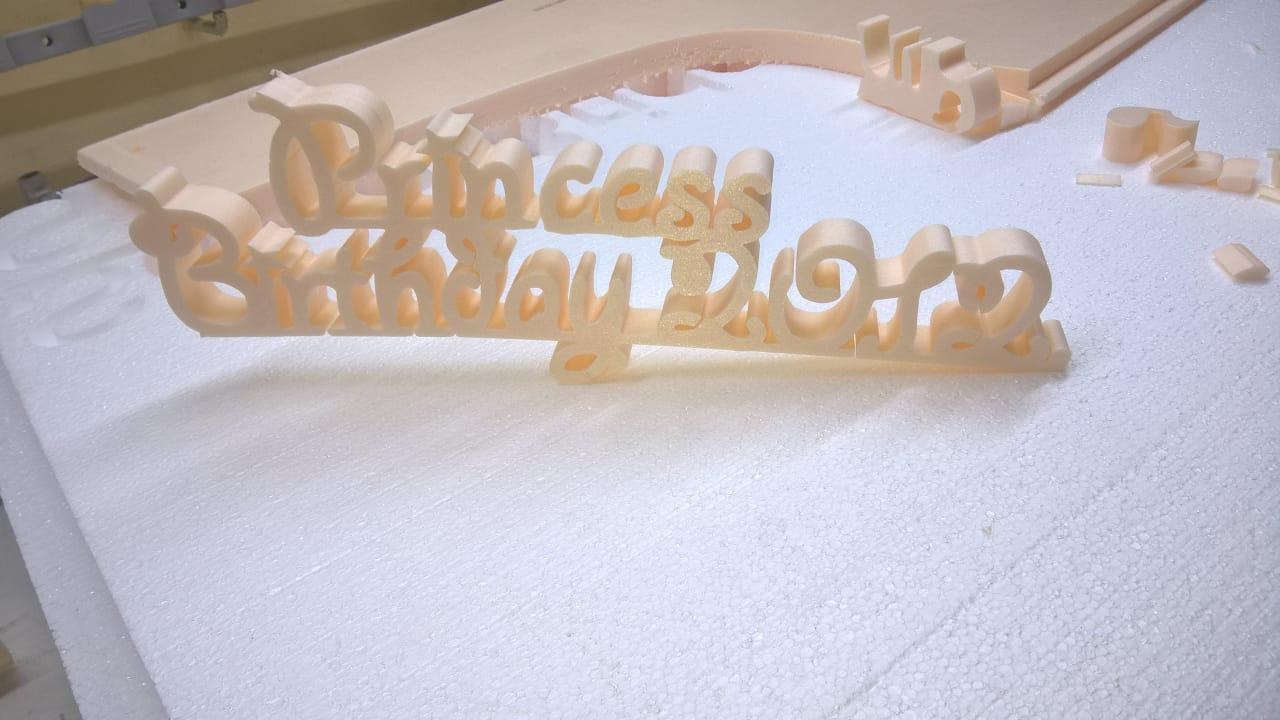 Буквы из пенопласта на день рождения