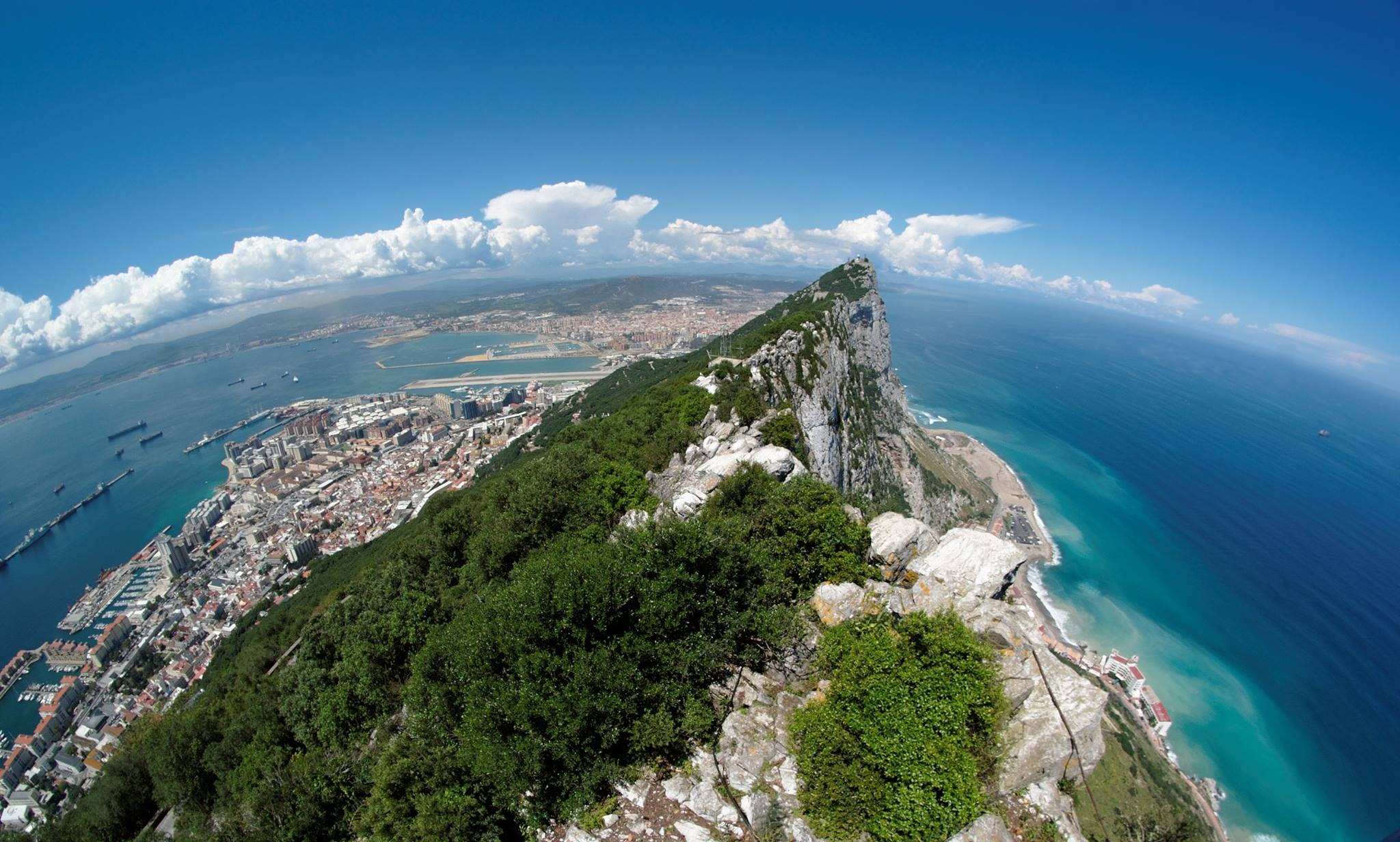 Gibraltar from above - Image credit to Gibraltar Tourism Board