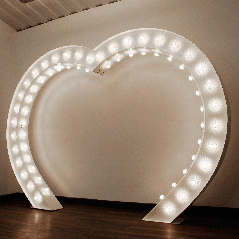 Сердце с лампочками