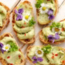 Delicious avocado breakfast for our May Break Fast London supper club