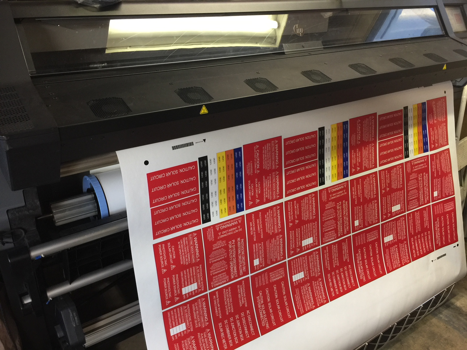 Solar install labels and signage