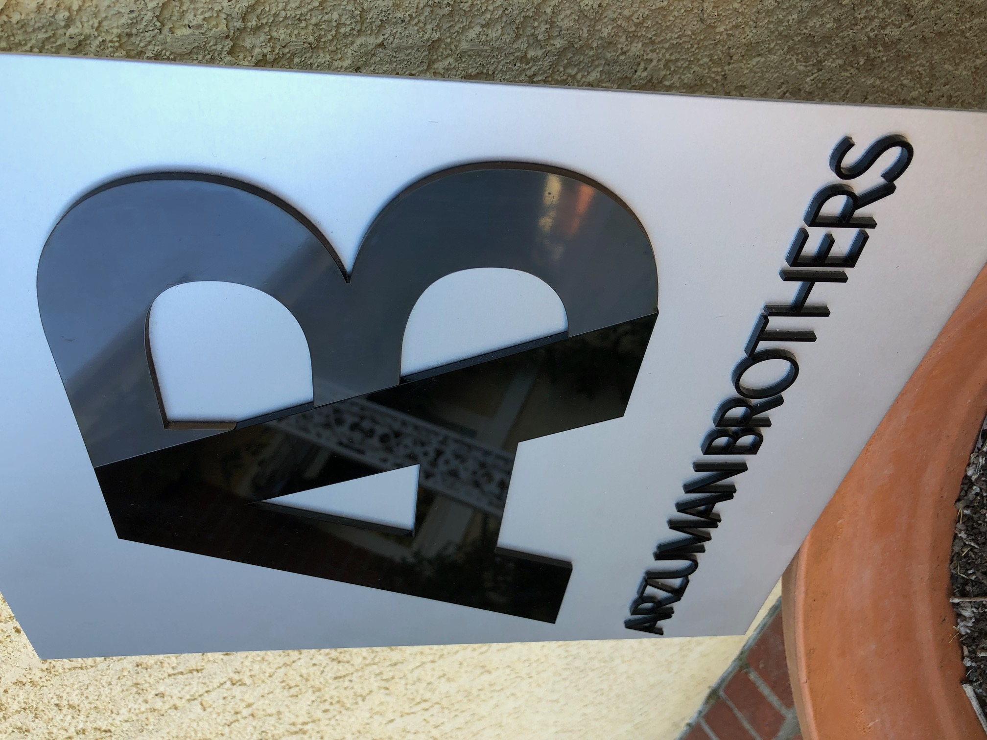 Cut acrylic sign