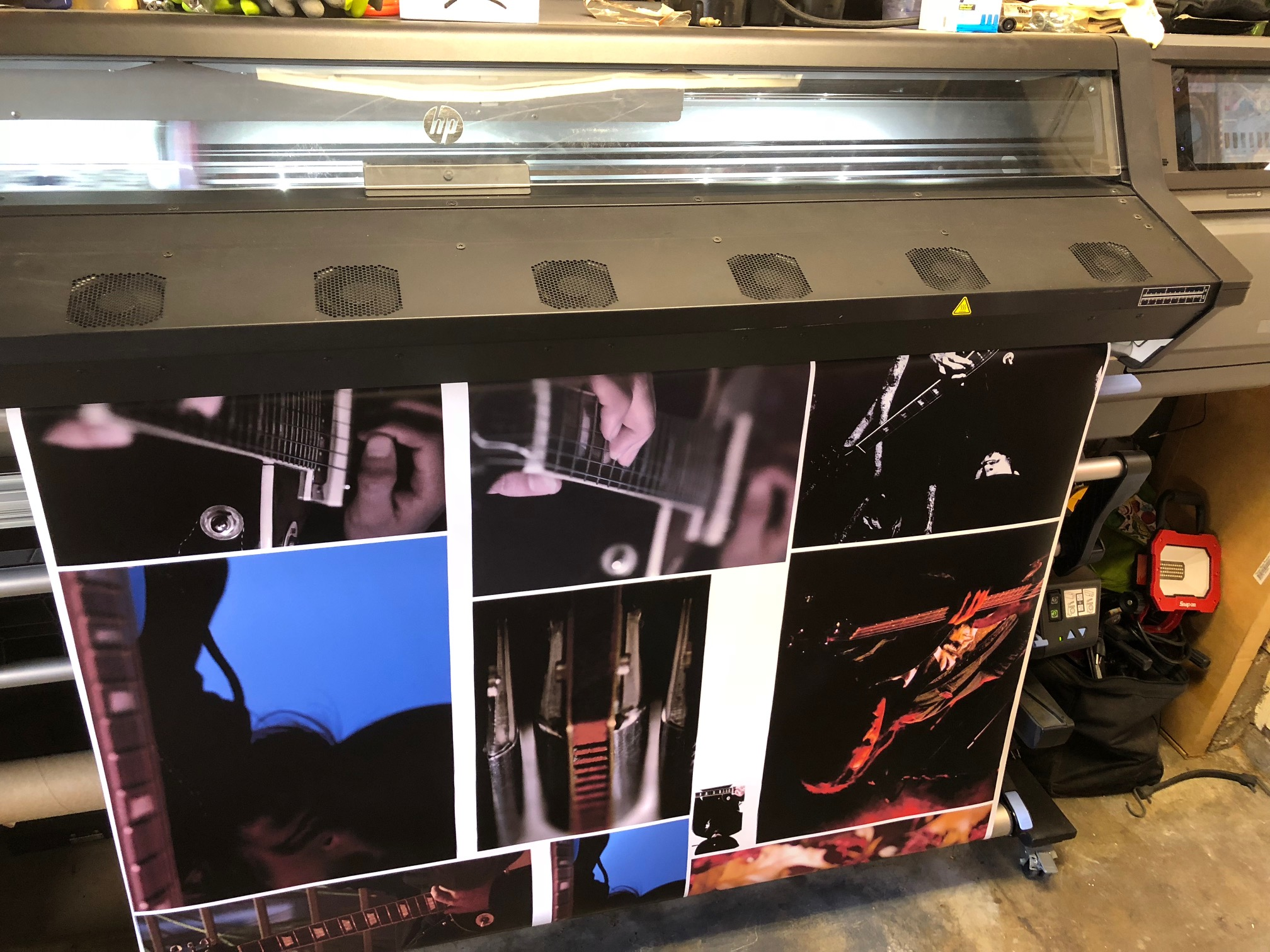 Large format images printing