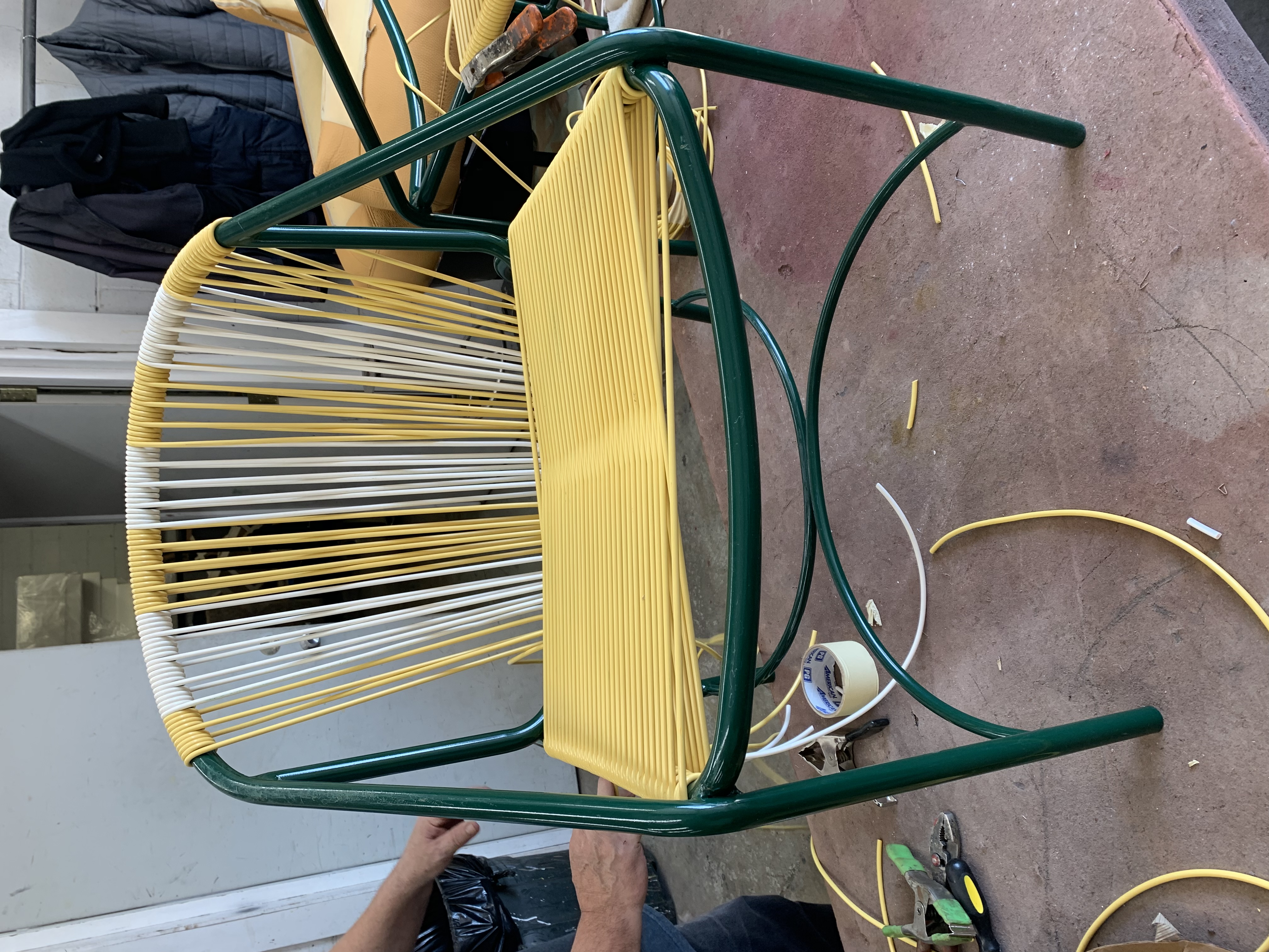 Restringing Rope Chairs 3