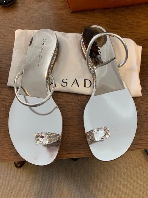 Sandalen Casadei Silber Gr. 40