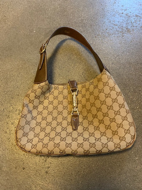 Tasche Gucci Stoff braun/baige