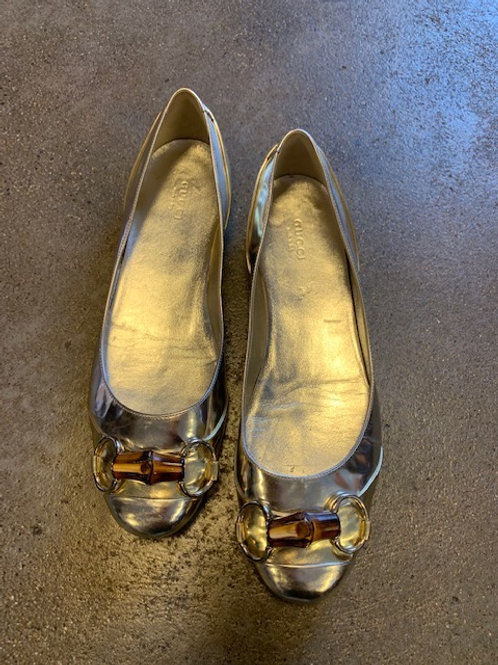 Ballerinas Gucci Gold Gr. 40