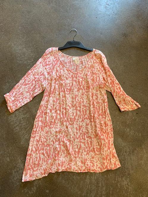 Kleid Kaffe Gr. 38 rosa/ecru
