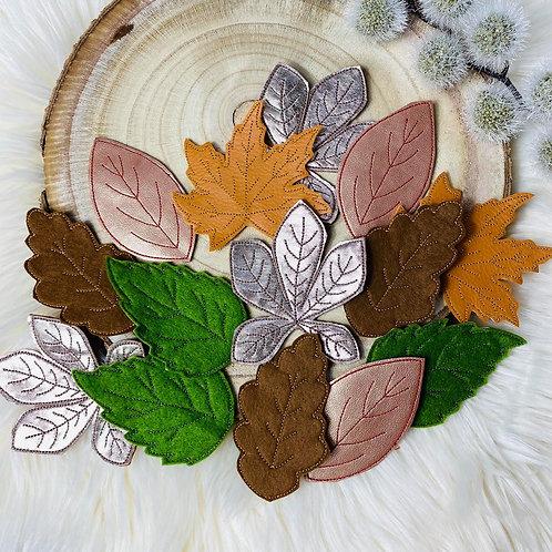 ITH Stickdatei 20x30 Rahmen Herbstblätter