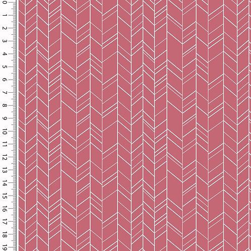 Baumwolle Popeline Zick Zack bordeaux/pink 0,5m