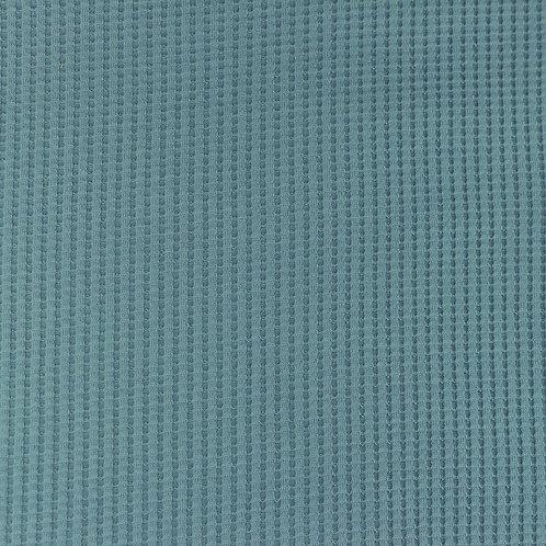 Waffeljersey uni altblau 0,5m