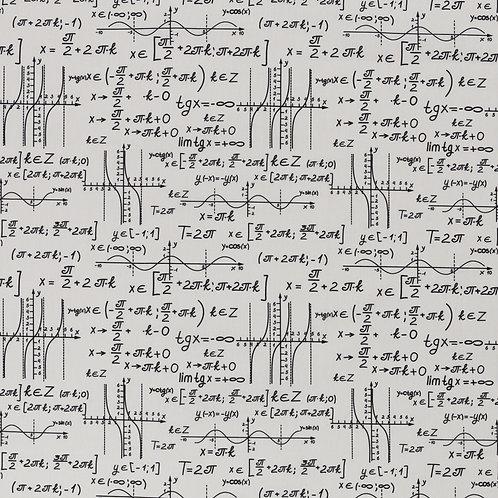 Baumwolle Formeln weiß 0,5m