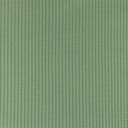 Waffeljersey uni altgrün 0,5m