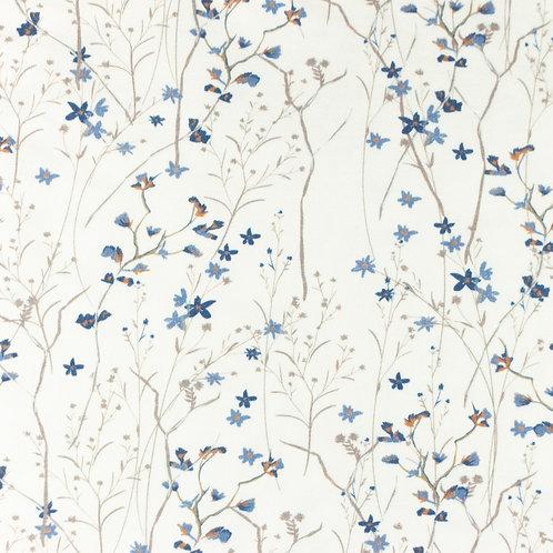 Jersey tausend Blumen altblau 0,5m
