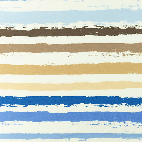 Jersey Streifen brush blau 0,5m