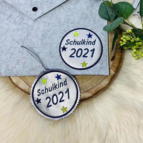 ITH Stickdatei 10x10 Rahmen Schulkind 2021