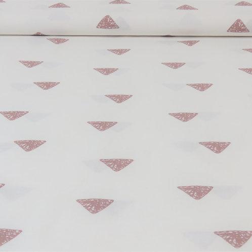 Baumwolle Dreiecke auf weiß 0,5m