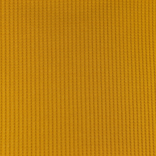 Waffeljersey uni senfgelb/ocker 0,5m