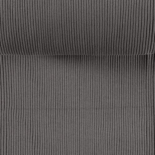 Bündchen gerippt taupe-grau