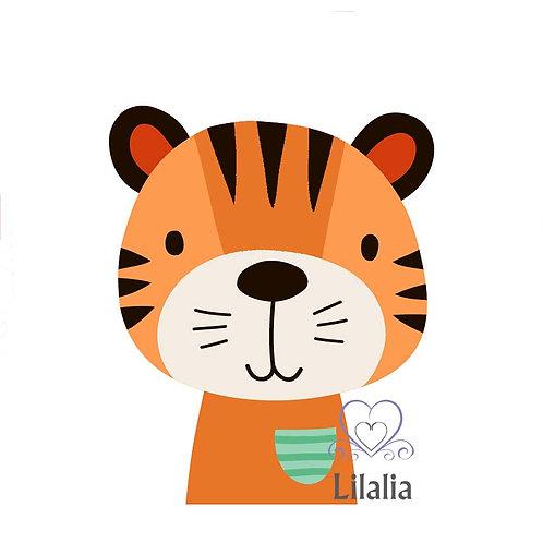 Plotterdatei Tiger Paul