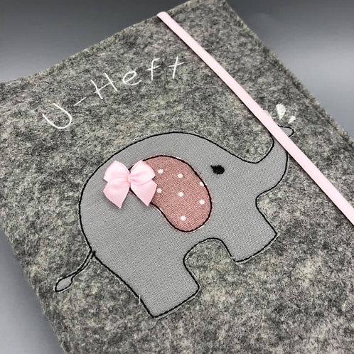 Stickdatei 16x26 Rahmen kleiner Elefant