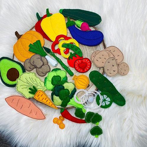 ITH Stickdatei 10x10 Rahmen Gemüse