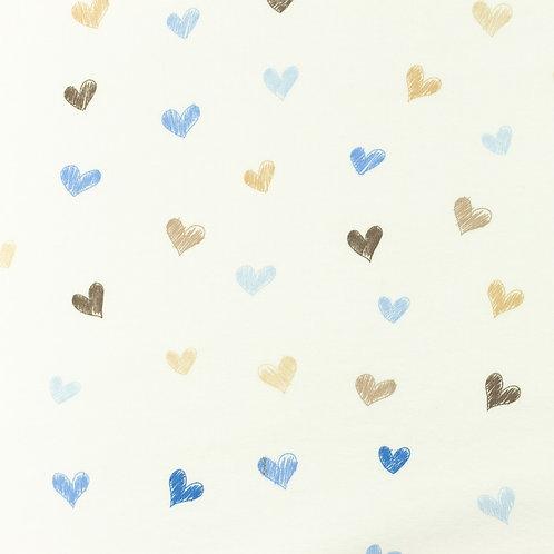 Jersey Herzen blau 0,5m